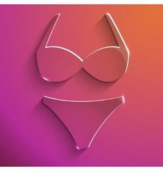 Lingerie sign glass icon vector