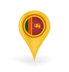 Location Sri Lanka vector image