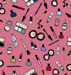 Make-up Cosmetics Seamless Pattern Color vector