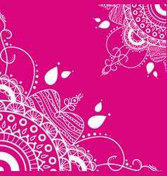 Mandala on pink background vector