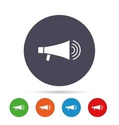 Megaphone sign icon Loudspeaker symbol vector