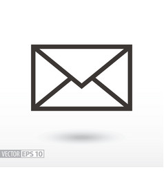 message flat icon sign envelope vector image