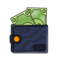 money wallet isolated vector image