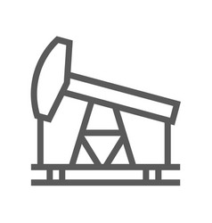 oil and petrol industry line icon vector image