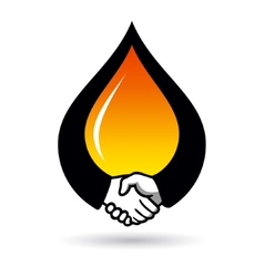 Oil deal sign vector image