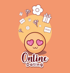 Online dating design vector