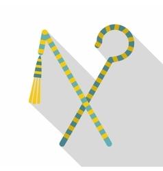 Pharaoh symbols icon flat style vector image