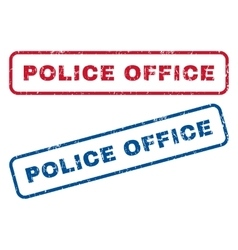 Police office rubber stamps vector