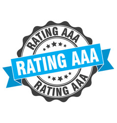 Rating aaa stamp sign seal vector