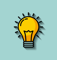 Regular lightbulb idea concept image vector