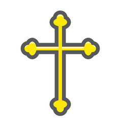 religion cross filled outline icon easter vector image
