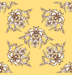 renaissance seamless ornament vector image