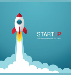 Rocket start up vector