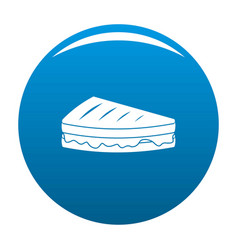 Sandwich icon blue vector