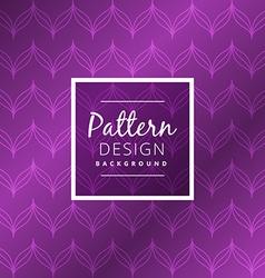 Seamless purple pattern design vector