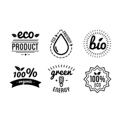 Set of labels and elements for green vector