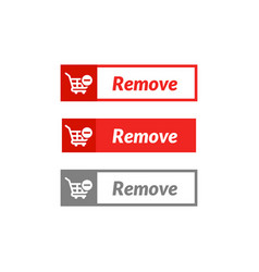 Simple design remove item button online shop vector