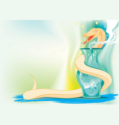 snake and natural medicine vector image