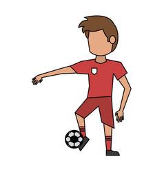 soccer player cartoon avatar vector image