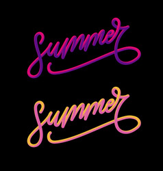 Summer slogan sales holiday flyer banner poster vector