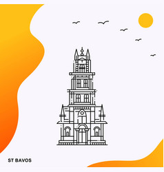 Travel st bavos poster template vector