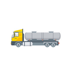 truck for water transportation side view vector image