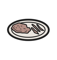Veal cutlet vector