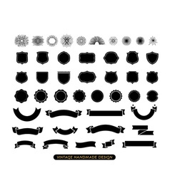 Vintage Handmade Icon Set vector image