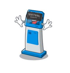 Virtual reality information digital kiosk isolated vector