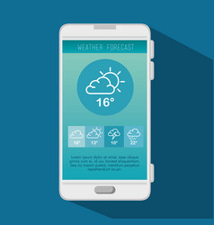 weather forecast application vector image