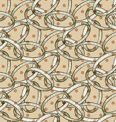 Abstract rings with polka dot vector image
