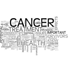 After cancer treatment health tips everyone needs vector