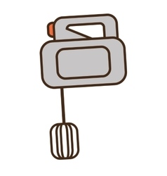 cartoon electric mixer cooking kitchen appliance vector image