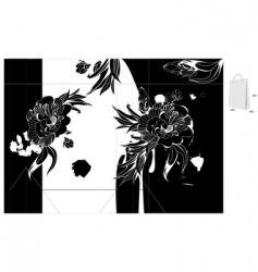 original template for bag design vector image vector image