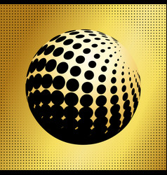 set abstract halftone 3d spheres 34 vector image vector image