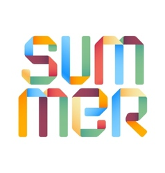 Summer 3d text design template vector image vector image