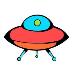 ufo icon icon cartoon vector image