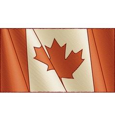 Vintage Canadian flag background vector image