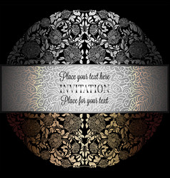 baroque background with antique luxury black vector image