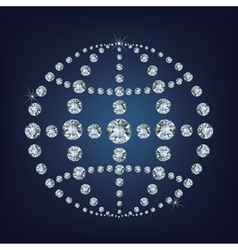 Global world icon made a lot of from diamonds vector image vector image