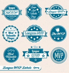 League MVP Labels and Icons vector image