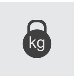 Kettle bell icon vector image vector image