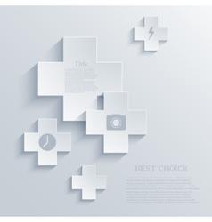 modern cross background Eps 10 vector image