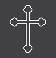 religion cross line icon easter and holiday vector image vector image
