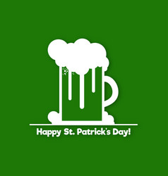 st patricks day symbol design a glass of beer vector image vector image