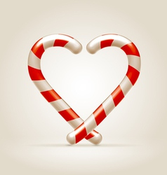 Sweetheart made of candy canes vector image