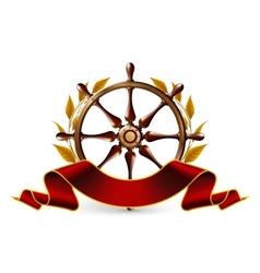 Wheel Emblem vector image