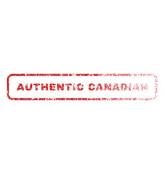 authentic canadian rubber stamp vector image vector image