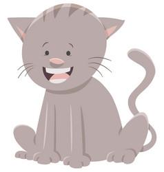 Cat or kitten cartoon character vector