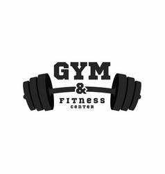 gym logo fitness center logo design template vector image